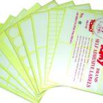 Quy trình in ấn mẫu nhãn giấy