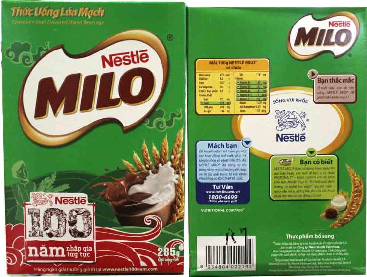 Hộp sữa bằng giấy bảo vệ môi trường