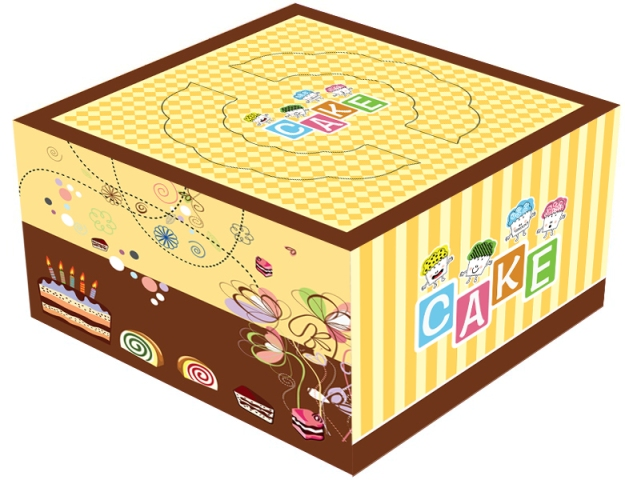 In hộp giấy đựng bánh kem