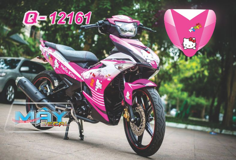 Tem Hello Kitty cho xe máy