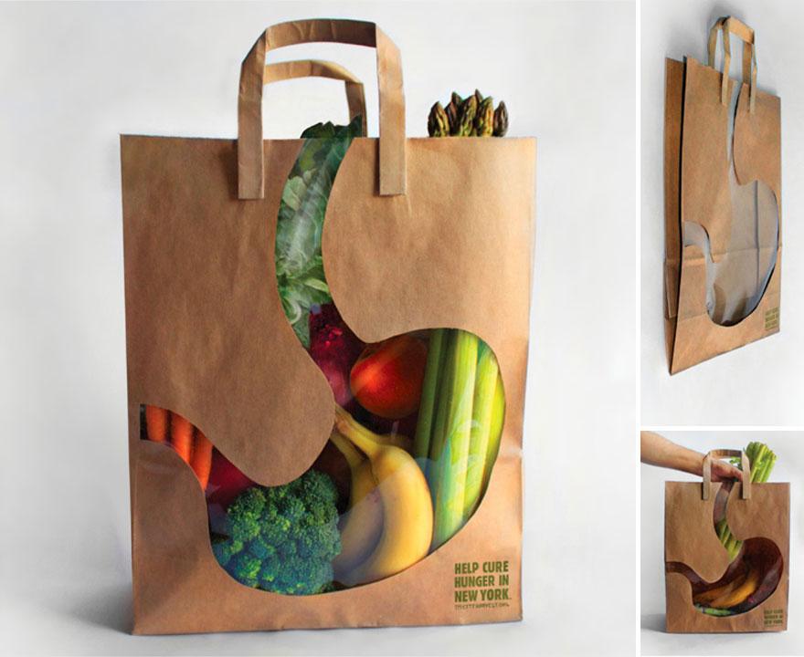In túi giấy đựng hoa quả tươi