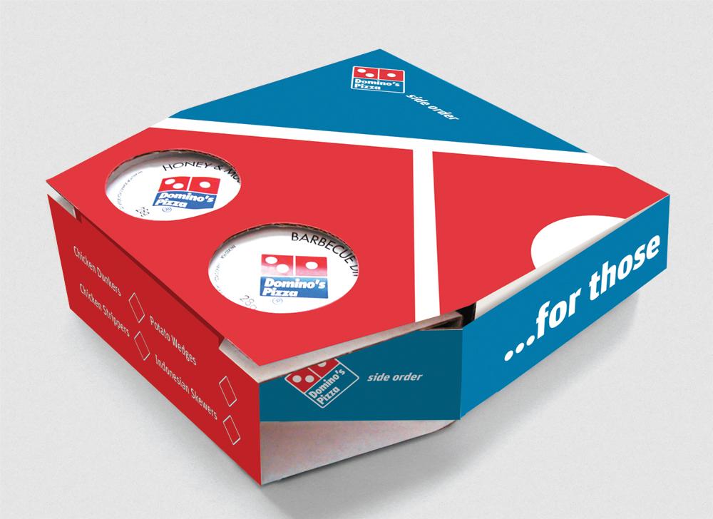 Bao bì giấy đựng bánh pizza Domino's