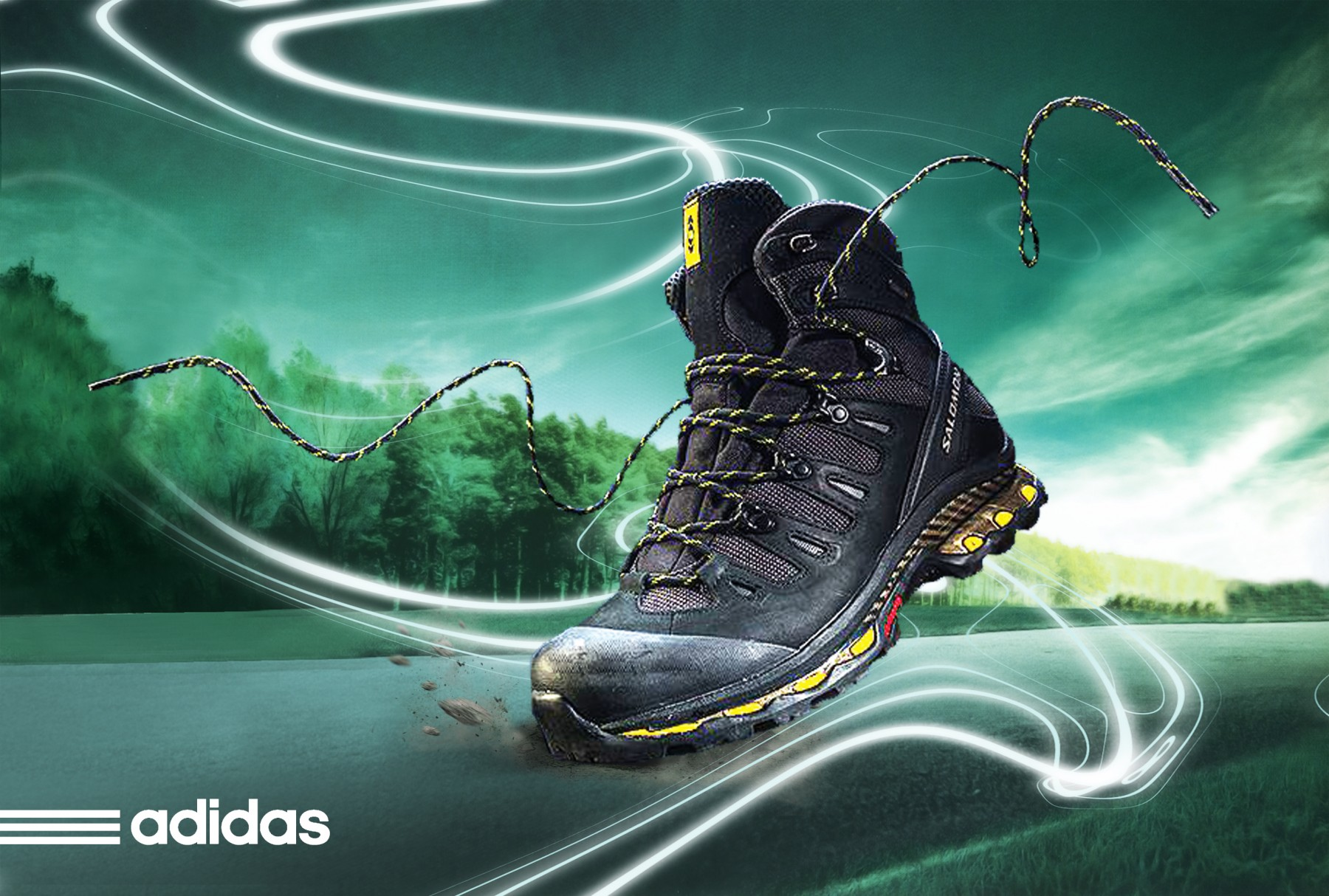 Poster quảng cáo giày thể thao Adidas
