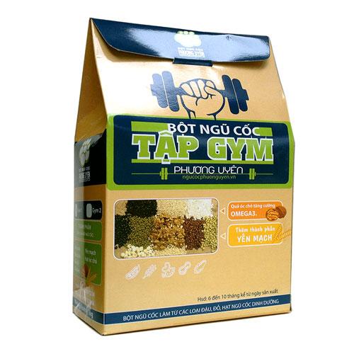 In hộp giấy đựng bột ngũ cốc thiên nhiên