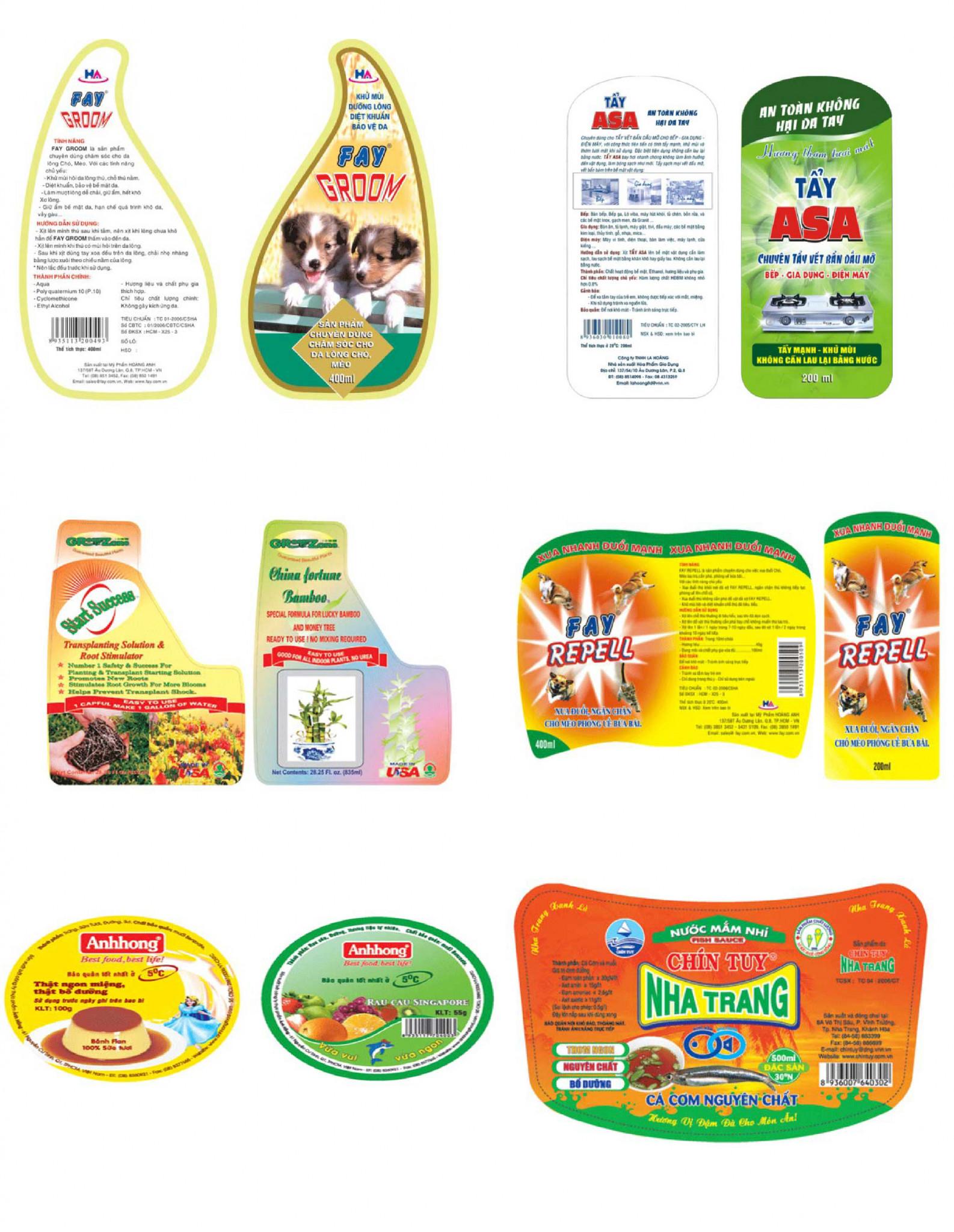 Mẫu in nhãn mác sản phẩm hàng hóa