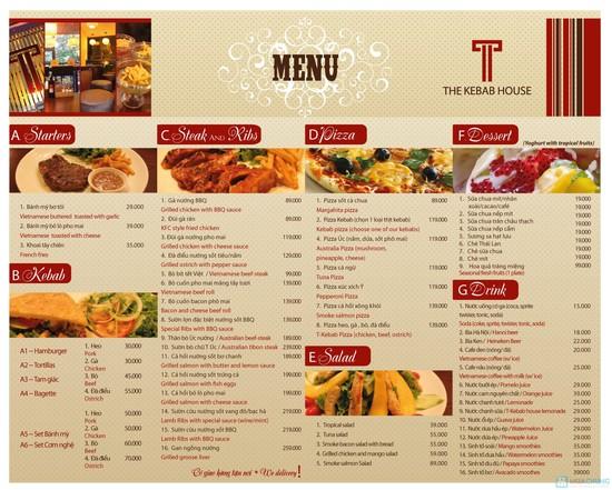 in nhanh menu nhà hàng