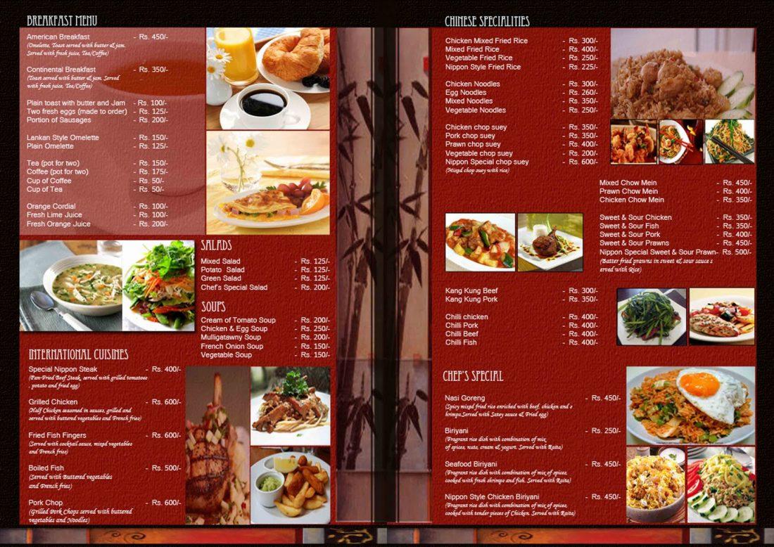 mẫu thiết kế menu nhà hàng độc đáo