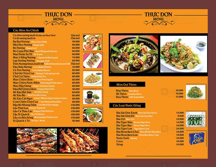 menu thực đơn nhà hàng đẹp