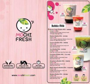 in menu trà sữa