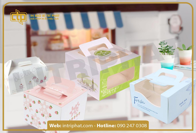 in hộp giấy chất lượng đựng thực phẩm
