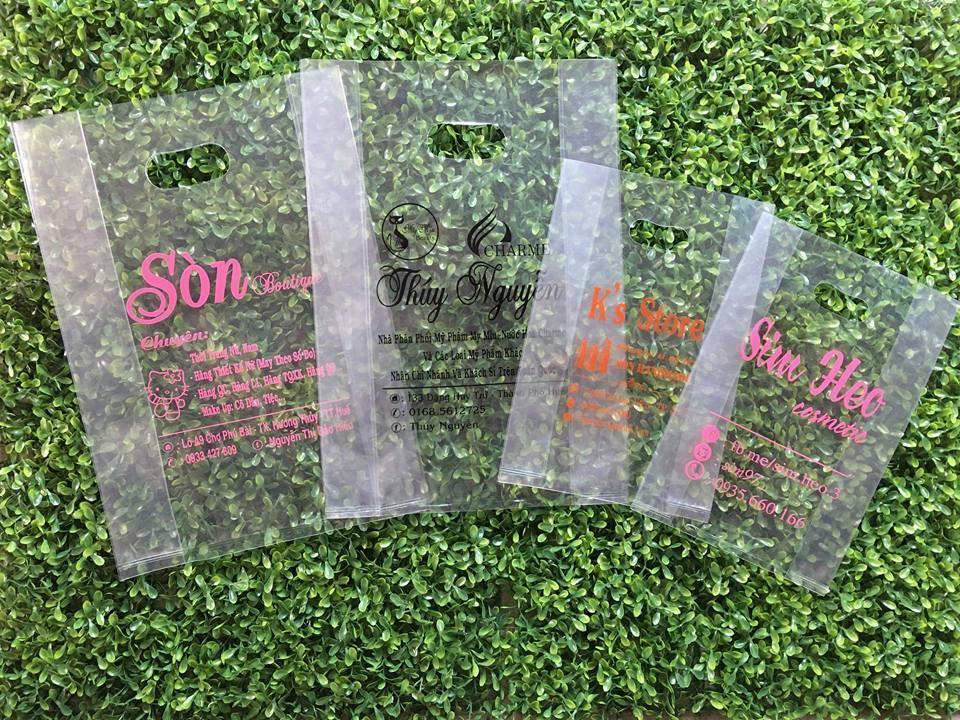 in túi nhựa PE đựng mỹ phẩm