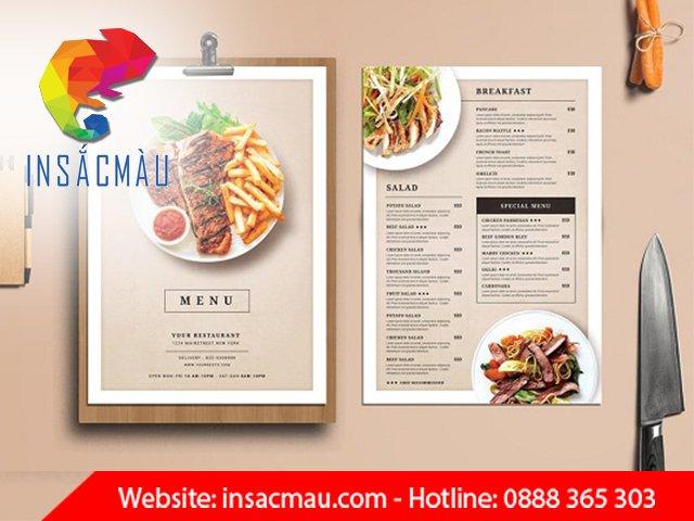 in ấn menu giá rẻ